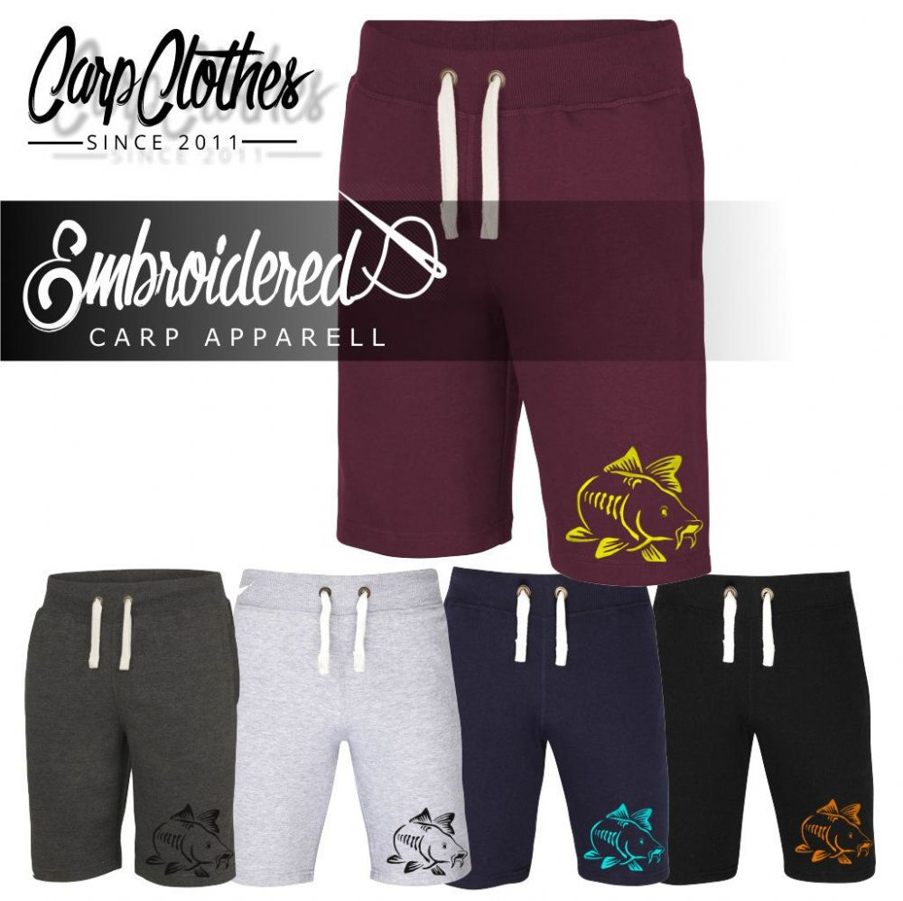 003 EMBROIDERED CARP SHORTS